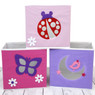 Pink & Purple Cubby Set of 3 | Bucasi SCR639 | Girls Cubby Ladybug Butterfly Moon Set | Set