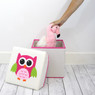 Pink Owl Organizer Set | Bucasi Pink Childrens Storage | Pink Owl Organizer for kids | Pink Owl Hamper Stool Basket Set | Bucasi | Storage Stool