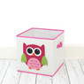 Pink Owl Organizer Set | Bucasi Pink Childrens Storage | Pink Owl Organizer for kids | Pink Owl Hamper Stool Basket Set | Bucasi | Basket