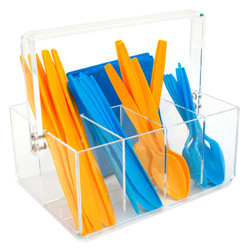 Acrylic Utensil Caddy | Bucasi Home Goods | CNT410 | Main