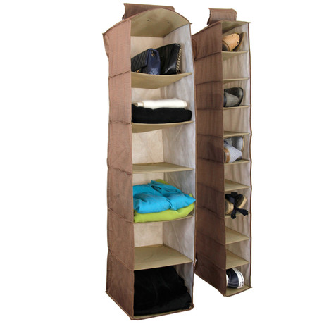 Bucasi Linen Hanging Organizer | Set of 2 | Bucasi SCR350BR | Main