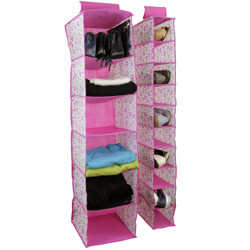 Bucasi Pink Floral Closet Organizer Set | Bucasi SCR466PK | Main