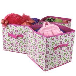 Pink Floral Cubbie Set by Bucasi | Bucasi SCR488PK | Main