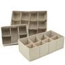 Adjustable Beige Drawer Organizer set of 3 | Bucasi SCR655 | 1