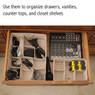 Adjustable Beige Drawer Organizer set of 3 | Bucasi SCR655 | Catalog