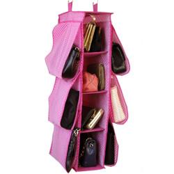 Bucasi Pink Polka-Dot Hanging Organizer | SCR507 | Side