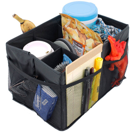 Black Backseat Organizer with Collapsible Sections | Bucasi SCR685 | Main