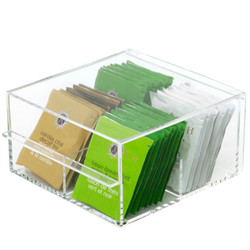 Square Acrylic Tea Caddy by Bucasi | Bucasi CNT345 | Main