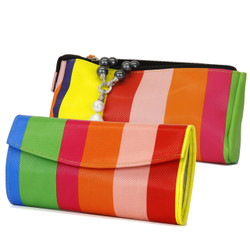 Rainbow Jewelry Travel Clutch and Jewelry Roll Up Set | TS13208-R | Set