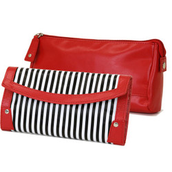 Black and White Jewelry Clutch | Bucasi Travel Accessories | TS13208-B | Main
