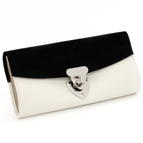 Black & White Jewelry Clutch | Bucasi Travel Accessories | Bucasi TS2659CRE | Main