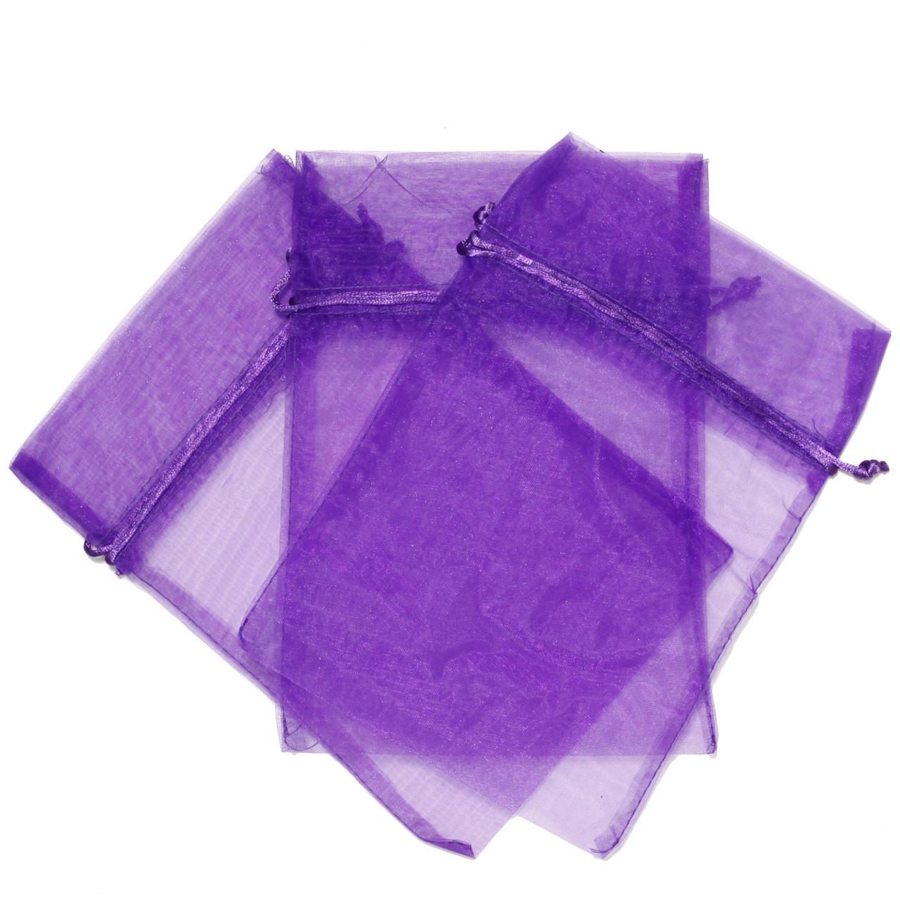 dirt cheap uk store promo code Purple Organza Gift Bag - Small