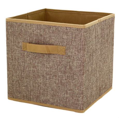 Linen Brown Cubby Cube | Bucasi SCR375 | Collapsible Cubby | Single