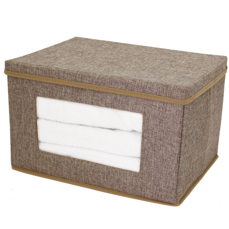 Linen Brown Sweater Box | Bucasi SCR725 | Collapsible | Single