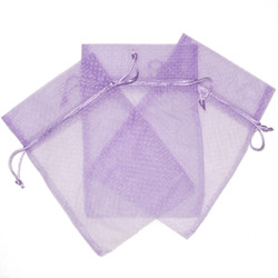 Lavender Polka Dot Organza Bag | Light Purple Organza Gift Bag | Lavender Party Favor Treat Bag | Purple Goodie Bag | Set of 30
