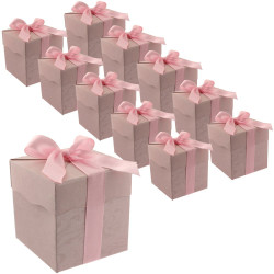 30 Pink Cute Paper Party Favor Bags - Small Paper Bags with Ribbon - Bag for Small Gifts, Candy