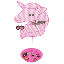 Cute Unicorn Jewelry Organizer - Teen Earring and Ring Stand - Girls Gift Idea