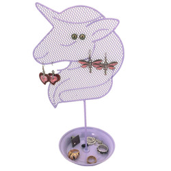 Cute Purple Unicorn Jewelry Organizer - Teen Earring and Ring Stand - Girls Gift Idea