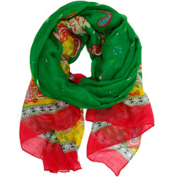 Floral Paisley Colorful Scarf
