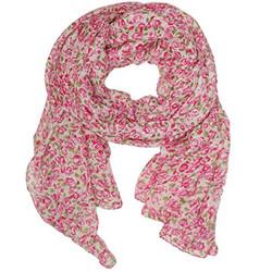 Pink floral Rose Print Scarf | Bucasi SF020 Scarf | Main