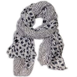 Stella Floral Vine and Flower Crinkle Scarf | Bucasi SF035WH | Main