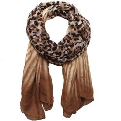 Ombre Leopard Print Scarf