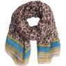 Purple cheetah print animal print scarf | Bucasi Purple Animal Print Scarf | Purple Venetian Scarf | Bucasi SF080TURQ | Main