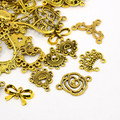 Tibetan Style Links Mixed Shapes Antique Gold 50g