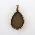 Drop Flat Pendant 25x18mm – Antique Bronze 10/pkg