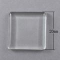 Clear Glass Tiles 20x20x4mm 10/pkg