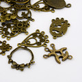 Tibetan Style Links Mixed Shapes Antique Bronze 50g