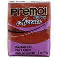Premo! Sculpey Accents Polymer Clay - Bronze #5519