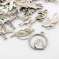 Tibetan Style Mixed Charms 50g - Antique Silver Birds