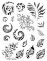 Designs by Ryn Unmounted Rubber Stamp Sheet – Spirals & Leaves