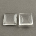Glass Cabochons Domed – Clear Square 25x25mm 5/pkg