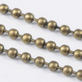 Iron Ball Chain 2mm Antique Bronze
