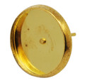 Brass Earring Posts with Round Cabochon Setting 8mm Gold 10/pkg