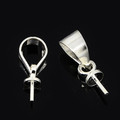 Brass Bail Pins Cup Caps Silver-Plated 100/pkg