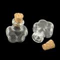Mini Corked Glass Vials 2/pkg Flower-Shaped