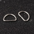 304 Stainless Steel D Rings 10x14x1mm 10/pkg
