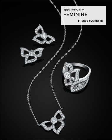 18K White Gold and Diamond jewelry from Carelle's Florette Collection