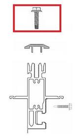 "Unirac SunFrame 209003D Bronze DRK Cap Strip 1-1/2"" Screw"