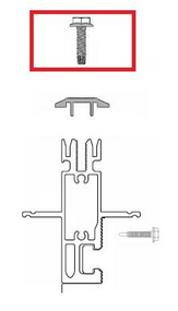 "Unirac SunFrame 209001D DRK Bronze Cap Strip 1"" Screw"