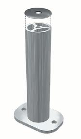 "Unirac 004600C Clear Flat-Top Two-Piece Aluminum Standoff 6"""