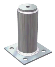 "Unirac 004401G Flat-Top, Zinc Plated Steel Standoff 4"""