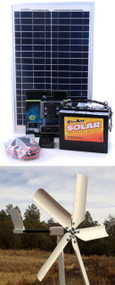 Hybrid 50W Wind And 20W Solar Do-It-Yourself Kit