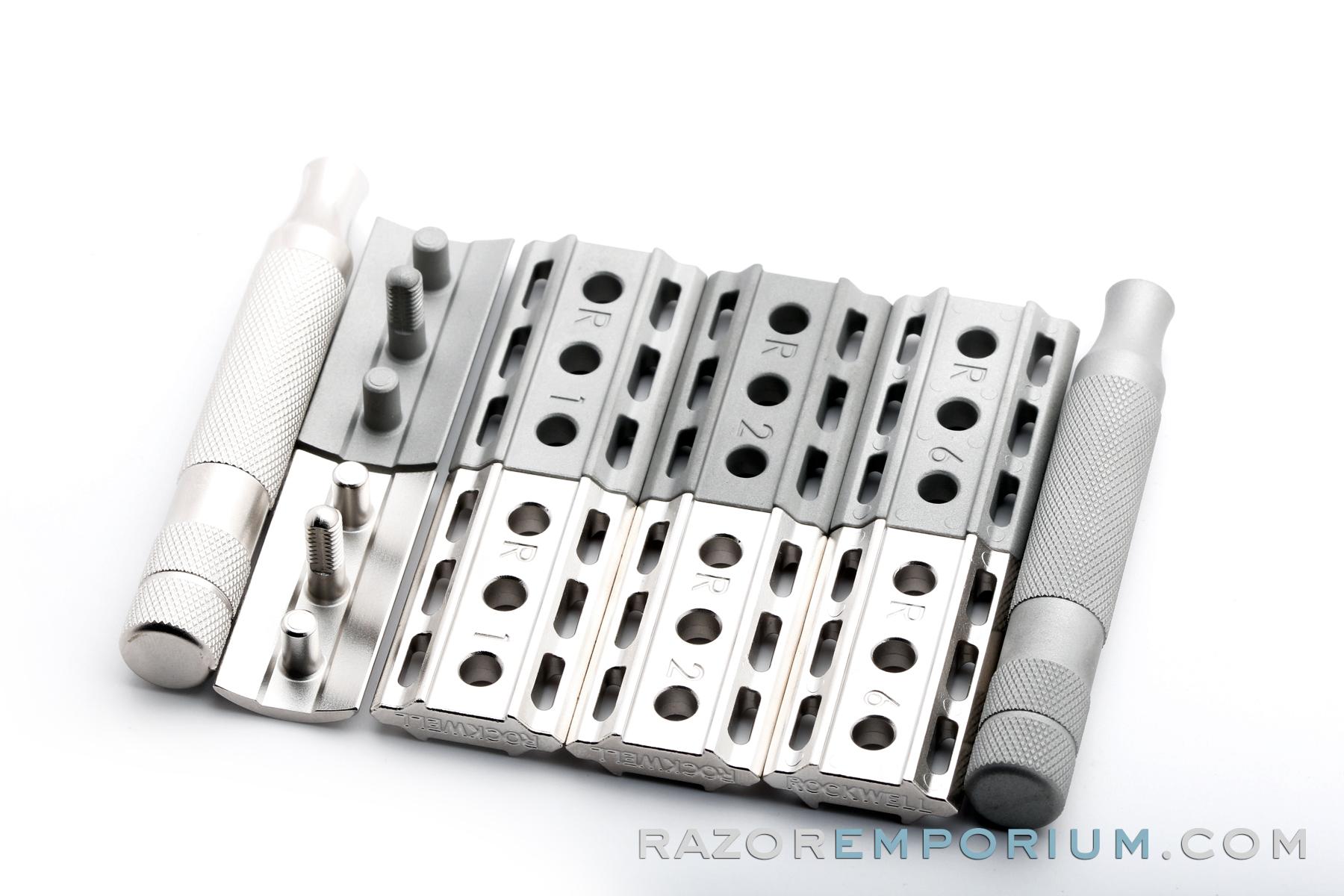 Rhodium Rockwell 6s Set 169 Razor Emporium