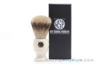 WSP Monarch | Premium Silvertip Badger Brush | Ivory Handle