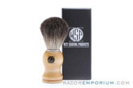WSP - Black Badger Brush with Wood Handle