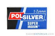 Polsilver Super Iridium Double Edge (DE) Razor Blades